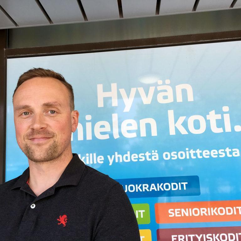 Sevaksen kiinteistöpäällikkö Ville Viitala